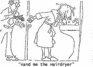 Haardroger grap